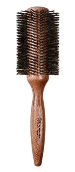 TEK Round brush in mahogany wood with wild boar bristles 70mm