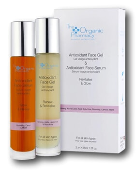 The Organic Pharmacy Antioxidant Face Gel & Antioxidant Face Serum Duo 35ml x 2