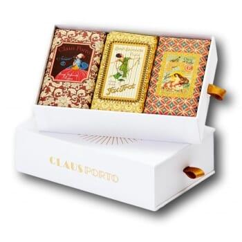 Claus Porto Gift Box 3 Wax Sealed Soaps 150g SMART   FOX TROT   ONDINA